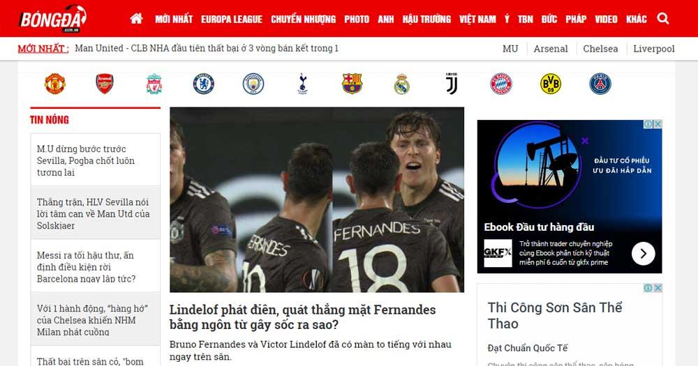 Các trang báo chuyên mục: Báo thể thao, báo phụ nữ,..