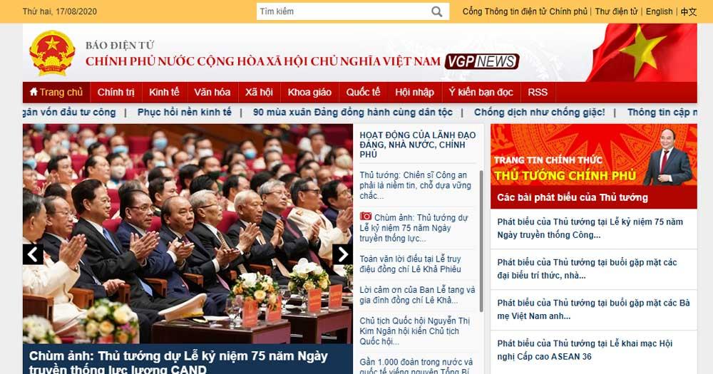 Các trang tin, cổng thông tin điện tử nhà nước
